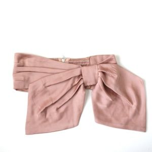 NWOT Free people blush satin bow sash